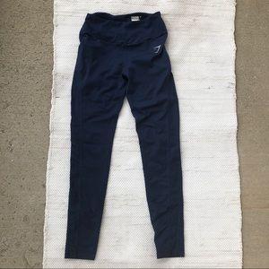 Navy gymshark high waisted pocket leggings